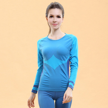 Fitness gym body shirt compression tights women's sport running long sleeve yoga t-shirts corsets women clothes