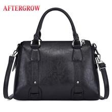 Black Ladies Boston Bag Women Shoulder Messenger Bag PU Leather Totes Designer Crossbody Female Handbag Hot Sale Shopping Bags недорого