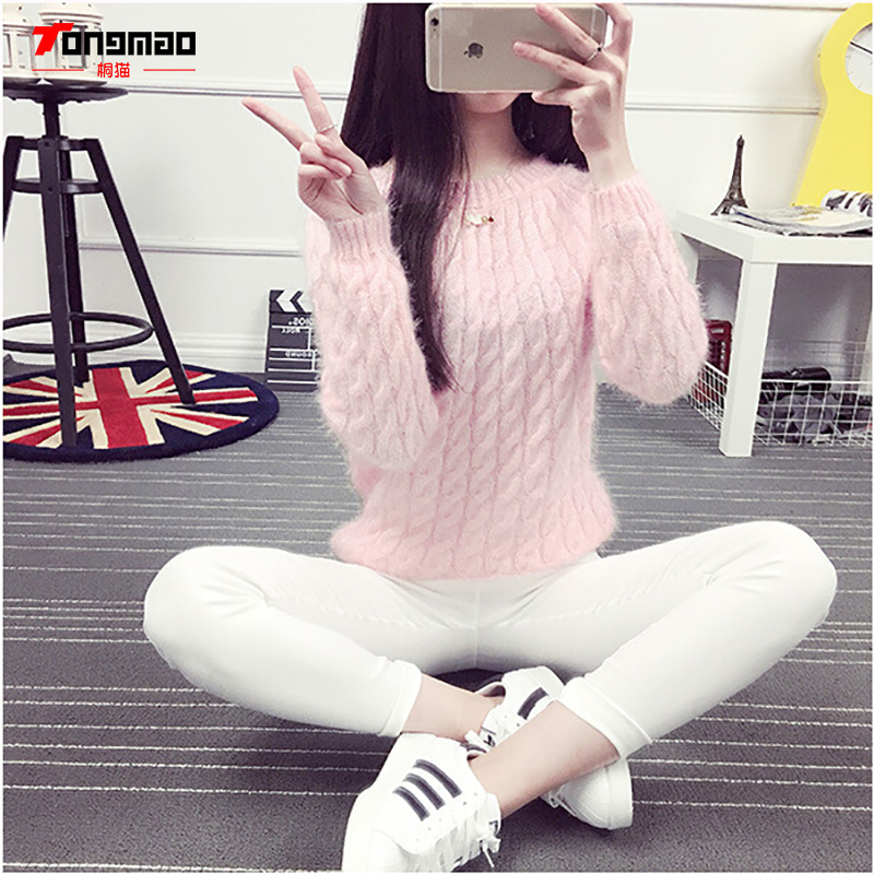Modni casual jednobojni pleteni džemper s dnom dasaka Hidpokampus - Ženska odjeća - Foto 3