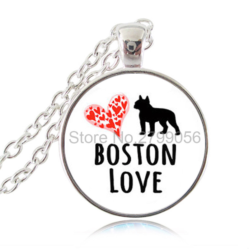 Boston Terrier Necklace Boston Love Dog Pendant Heart Animal Quote Jewelry font b Sweater b font