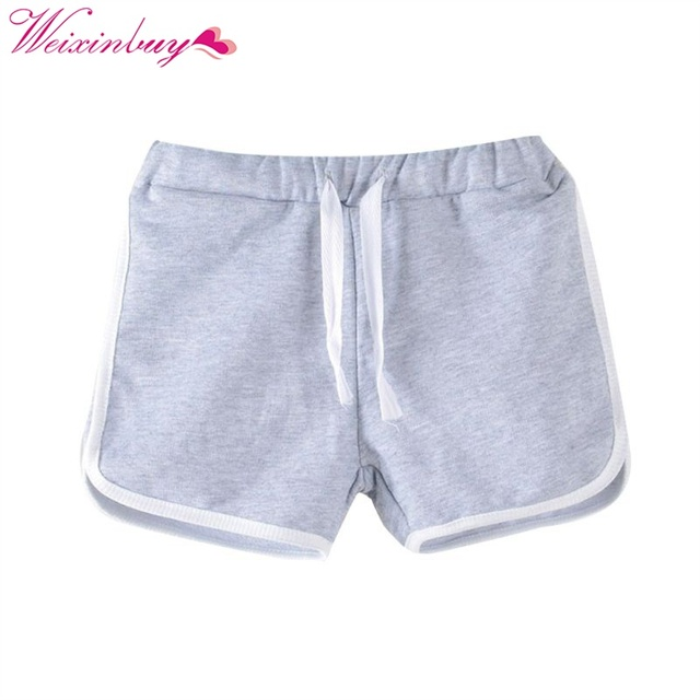 Candy Color Girls Shorts Casual Boys Children Beach Wear Loose Bottom Shorts Girl Short