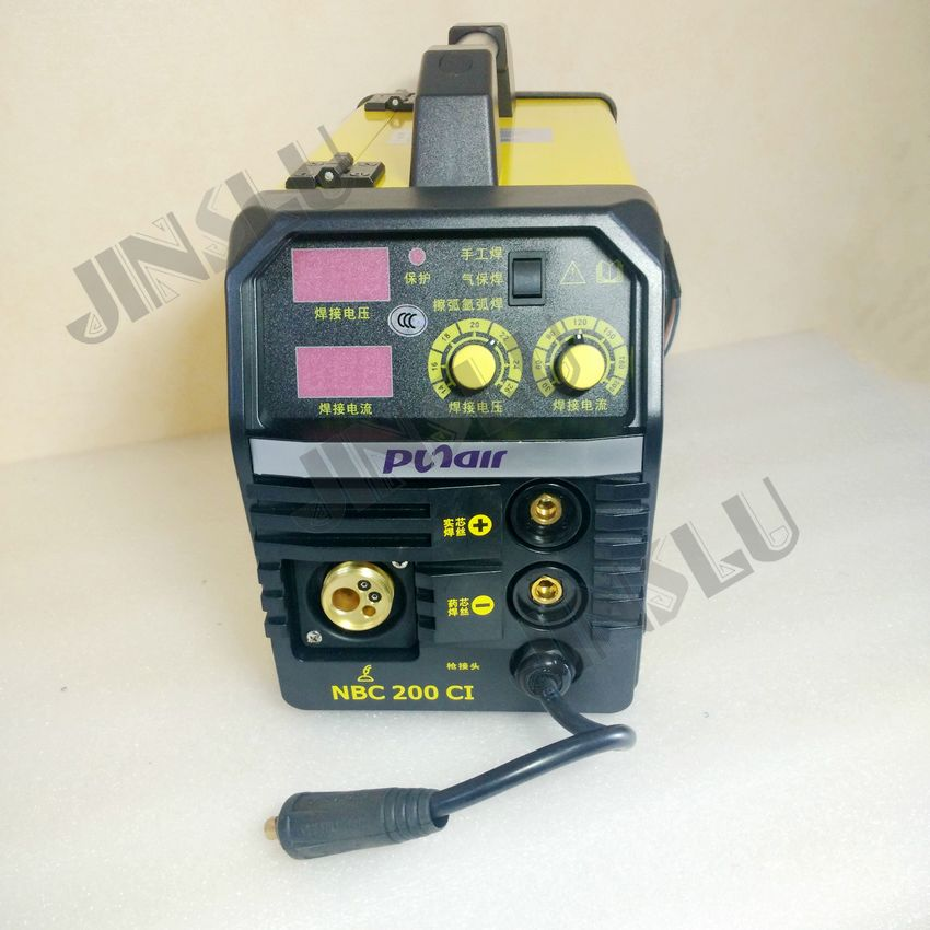 MIG-200 NBC-200 MIG welding machine,with torch holder and one 5KG/spool Self-Shielded Flux cored wire E71T-11 0.8mm professional 24v wire feed assembly 0 6 0 8mm 023 03 detault wire feeder mig mag welding machine european connector en60974