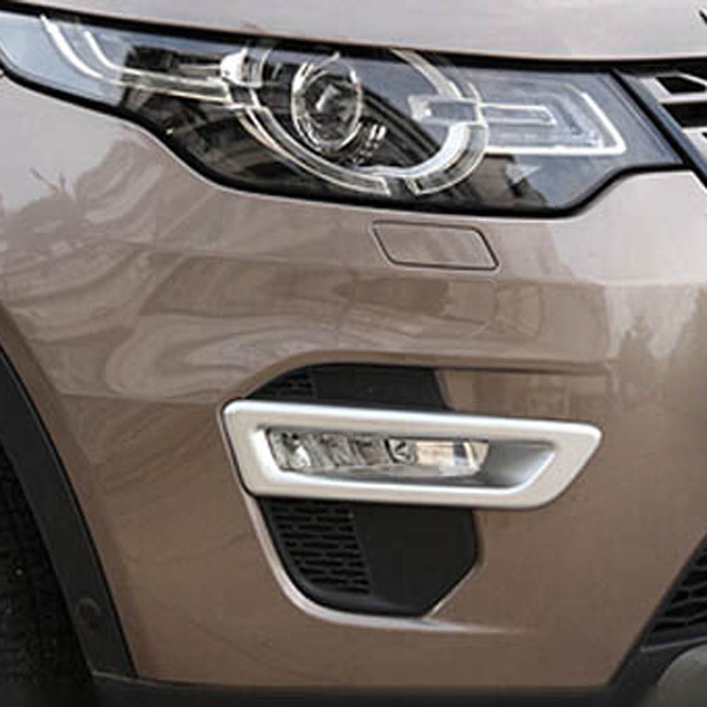 Front Bumper head driving fog lights lamp decorative cover stikcer frame for land rover discovery sport