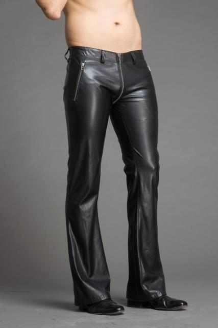 2018 Men's stylish flared leather pants.     29-36!! 1