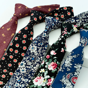 100% cotton skinny 6 cm floral necktie high fashion plaid ties for men slim cotton cravat neckties mens 2017 gravatas