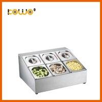 Best качество нержавеющая сталь Гастроемкости растительных пищевых контейнеров 6 Сетка GN Пан держатель кухонный прибор