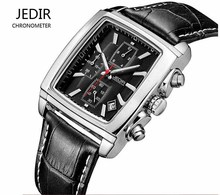 Top Brand JEDIR Men Watches Fashion Men Military Quartz Wristwatches Luxury Genuine Leather Watches Waterproof Relogio