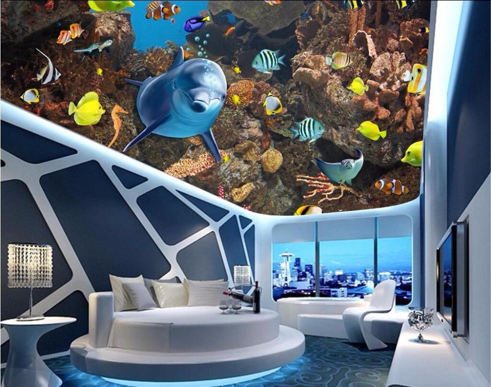 Aliexpress Com Buy 3d Room Ceiling Murals Wallpaper