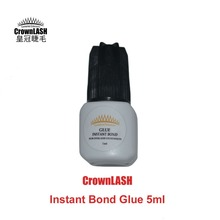 CrownLash Instant Bond Glue 5ml eyelash glue extension lash adhesive fast drying strong bonding glue