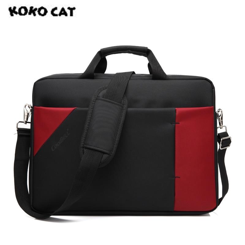 2017 KOKOCAT Fashion 15.6 inch Notebook Computer Laptop Handbag for Men Women Briefcase Messenger Hip-hop Patchwork Bags 3032