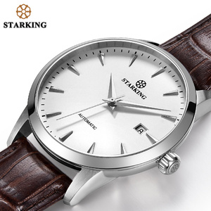 Image 2 - STARKING Automatic Watches Men Stainless Steel Business Wristwatch Leather Fashion 50M Waterproof Male Clock Relogio Masculino