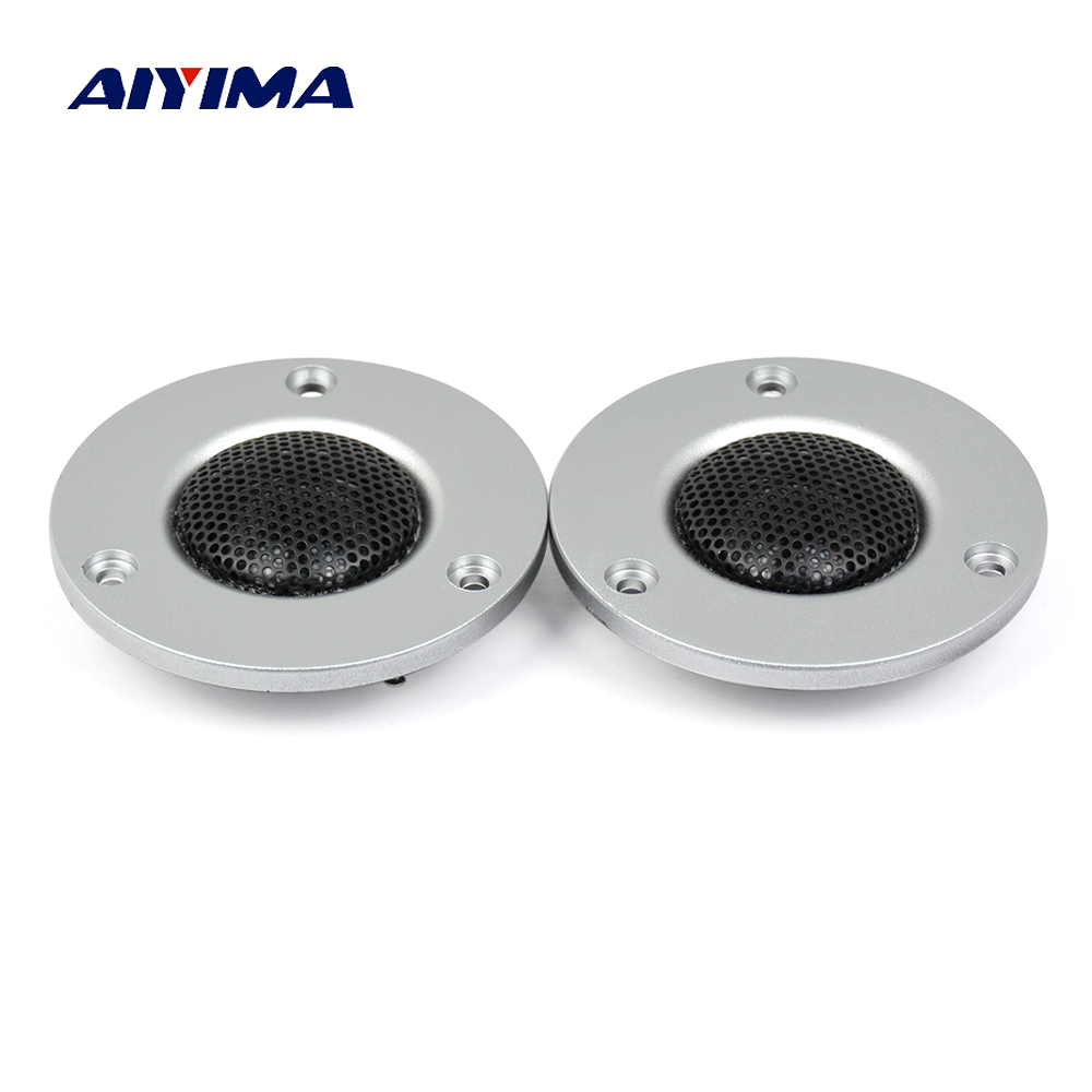 Aiyima 2Pcs Tweeter Audio Speaker Treble Horn HiFi Unit for Stereo Loudspeaker 74mm 3 Inch 4 Ohm 20W Home Speakers system hifi 3000watts powerful home system audio horn driver tweeter full speaker hot sale hi end box audio driver super tweeters
