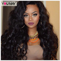 Brazilian Virgin Hair Full Lace Human Hair Wigs For Black Women 150% Loose Curly Wave Lace Front Human Hair Wigs With Baby Hair
