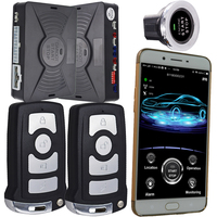 smart key car alarm engine start stop button rfid car alarm mobile app anti robbery alarm function notification phone calling