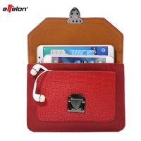 Effelon New Phone Bag Universal PU Leather Pouch Crossbody Small Bags For Below 6 3 Mobile