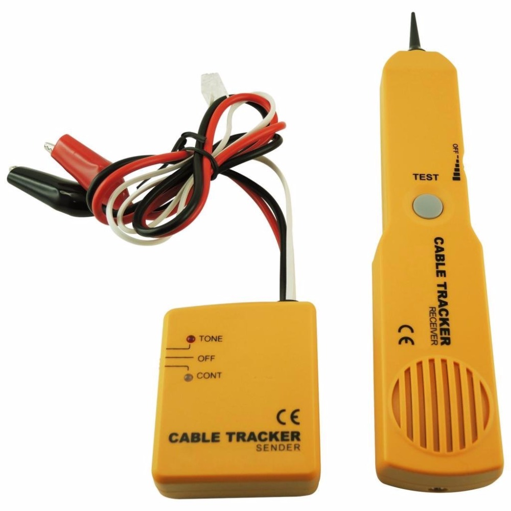 Network Phone Telephone Line Cable Tracker Wire Tracer Tester Sender and Reciever Kit Tone Continuity wire tracker tracer telephone network tester rj45 bnc converter cable finder
