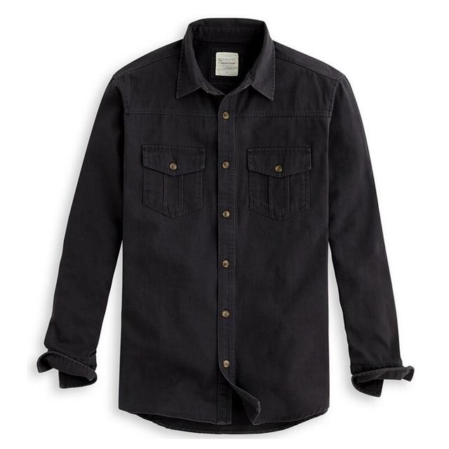 af70bddfc75 2016 New casual shirt 100%cotton khaki army green shirt men vintage military  men shirt slim long sleeve male shirt camisa(N-712)