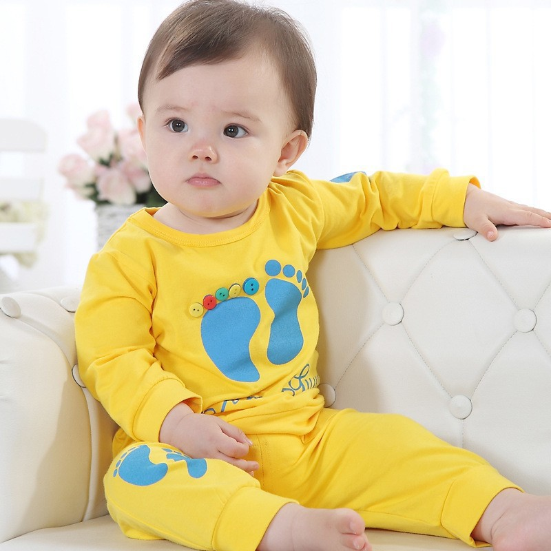 Hooyi yellow cute baby boy clothing sets childrens t shirts pant suit bebe boy clothes outfits 80 90 100 in clothing sets from mother kids on
