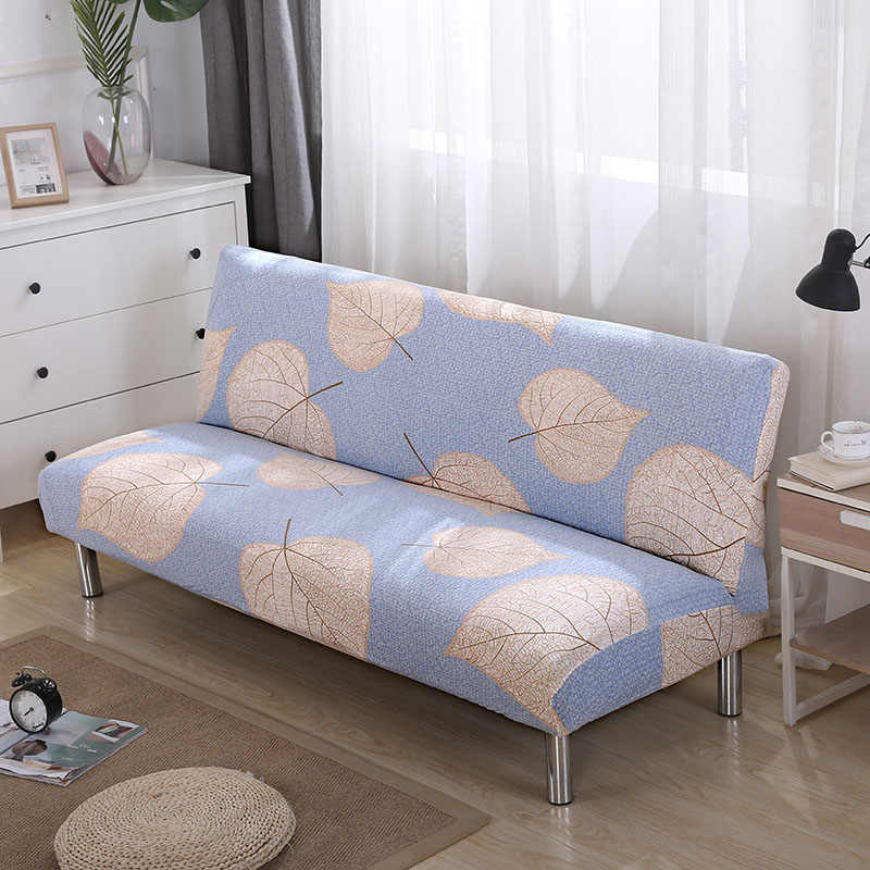 Armless Sofa Bed Cover Stretch Couch