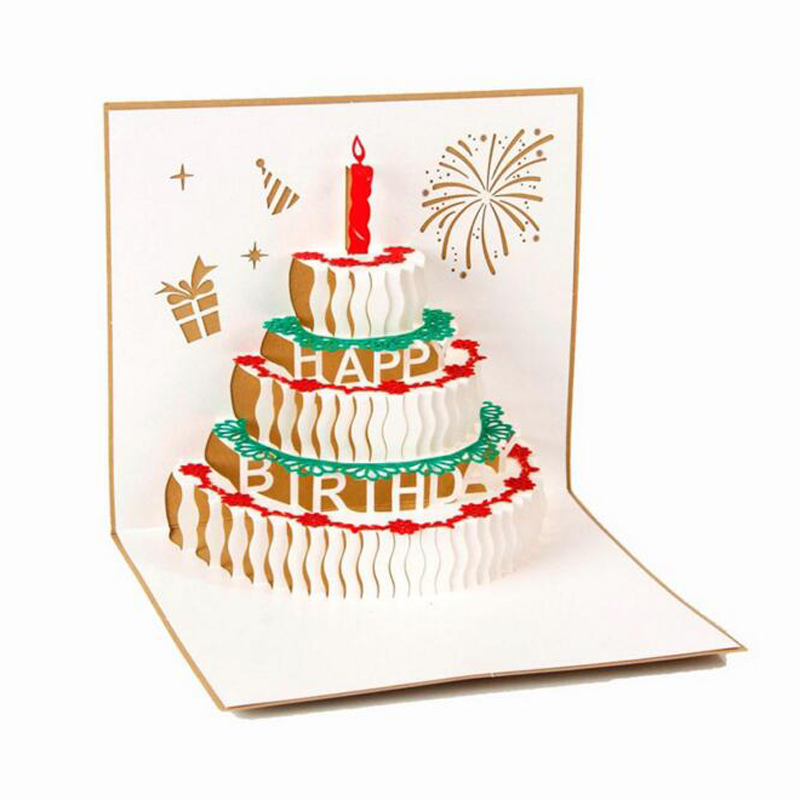10 Piecelothappy Birthday Greeting Card Paper Carving Crafts