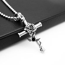 Women Jewelry Charms Lady Fashion Necklace Cross Rose Pendant Couple Style Simple Elegant Birthday Gifts цена в Москве и Питере