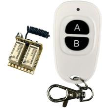 2CH Relé Interruptor de Controle Remoto Sem Fio 433 mhz RF Mini Pequeno 3.7 v 5 v 6 v 9 v 12 v Módulo Controlador gatilho Momentânea botão de reset