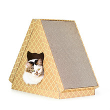 New pet toy cat house scratch board claws litter