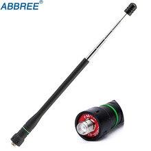 ABBREE высоким коэффициентом усиления Dual Band телескопическая антенна SMA-F женский для портативной рации Baofeng UV-5R BF-888S UV-82 UV-XR UV-9R Плюс Радио