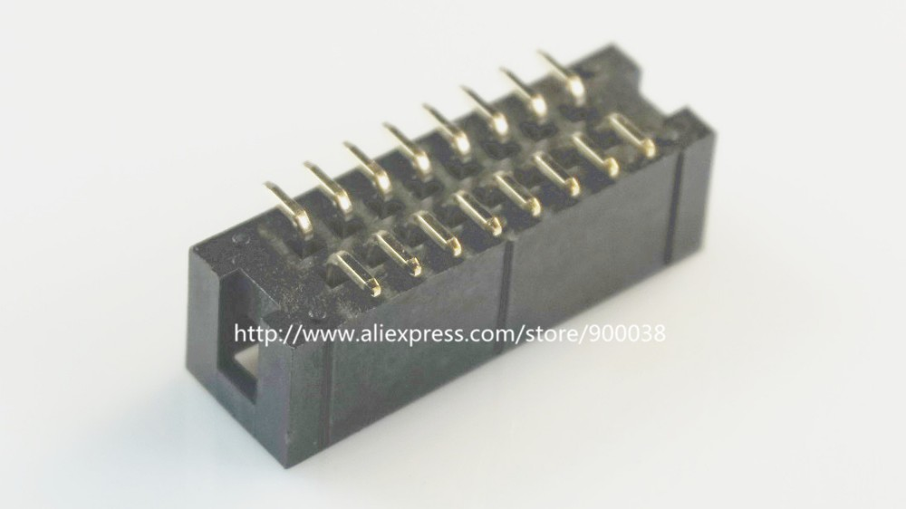 10Pcs 2mm 2.0mm Pitch 2x8 16 Pin SMT SMD Male Shrouded Box Header IDC Connector