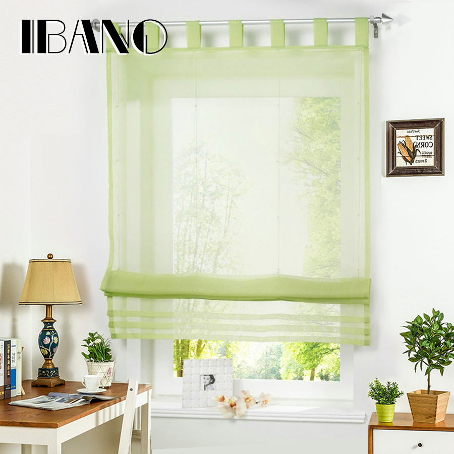 Kitchen Curtains At Big Lots: Tab Top Roman Curtain 1 PCS/Lot Sheer Window Curtain For