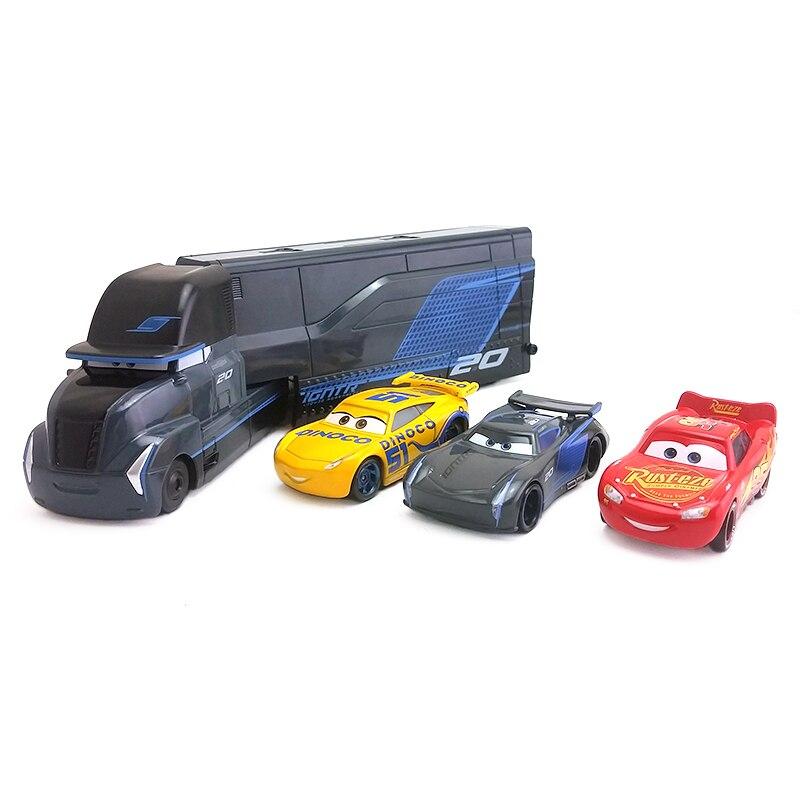 Disney Pixar Cars 3 Jackson Storm Hauler McQueen Cruz Ramirez Metal Diecast Toy Car 1 55