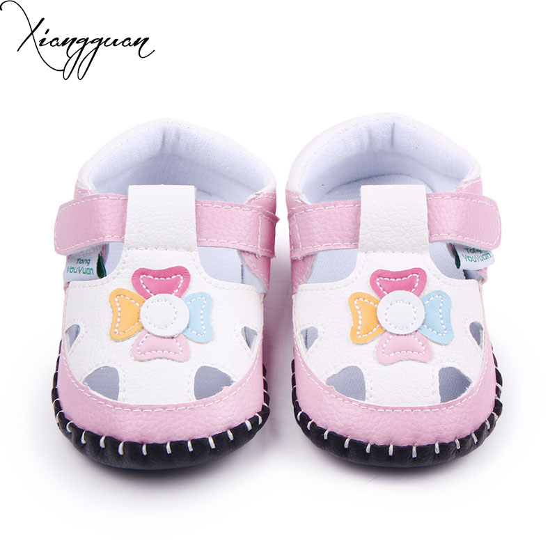 Fancy Leather Handmade Hard Sole Baby Girls Toddler Flower Animal Pattern Baby Casual Shoes For 0-15 Months