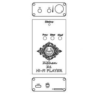 Image 5 - 100% DIY החדש Zishan Z1 DSD נגן MP3 מוסיקת Lossless MP3 תמיכת נגן מוסיקת HiFi DIY מגבר אוזניות קול USB כרטיס