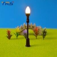 3V LED warm white scale miniature lamppost single head scale model light good quality