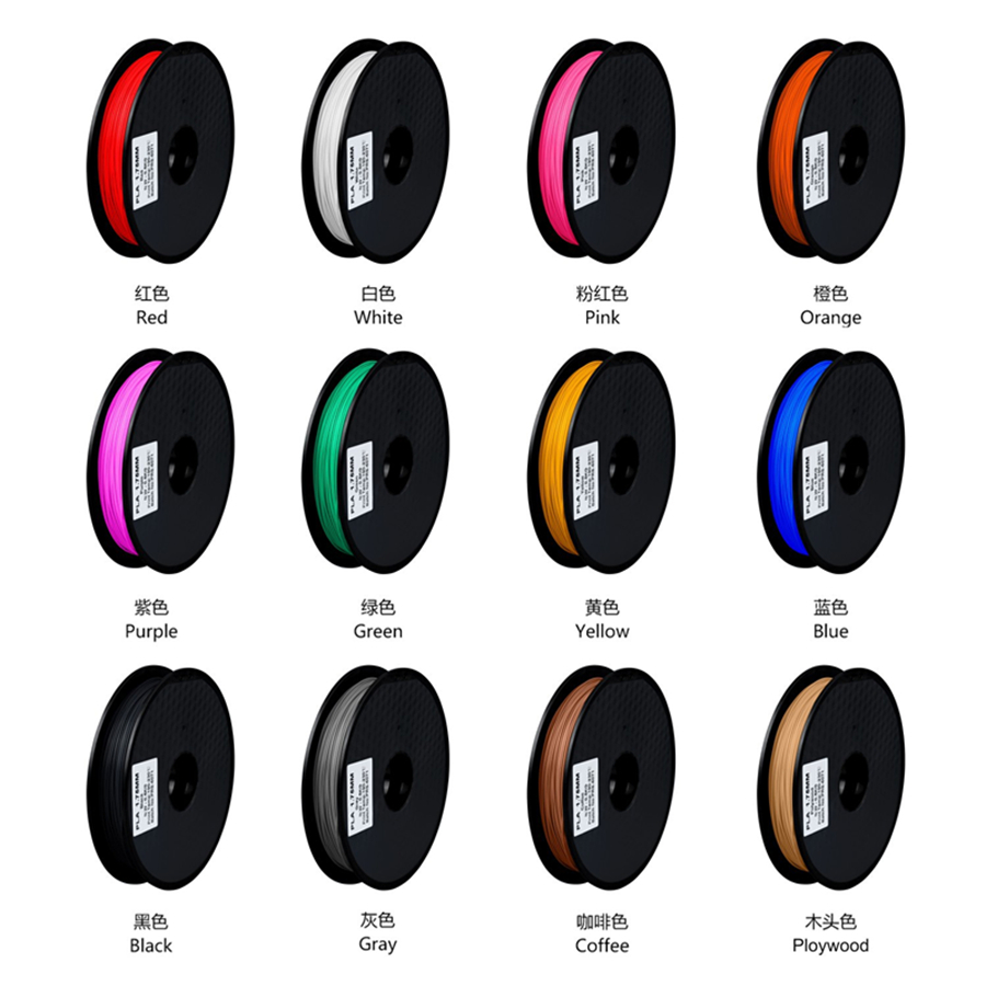 New 3D printer 1.75 mm 0.5KG PLA 3D printer Filament 3D Printing Materials Hot sale Best prise High quality in china 12 colour