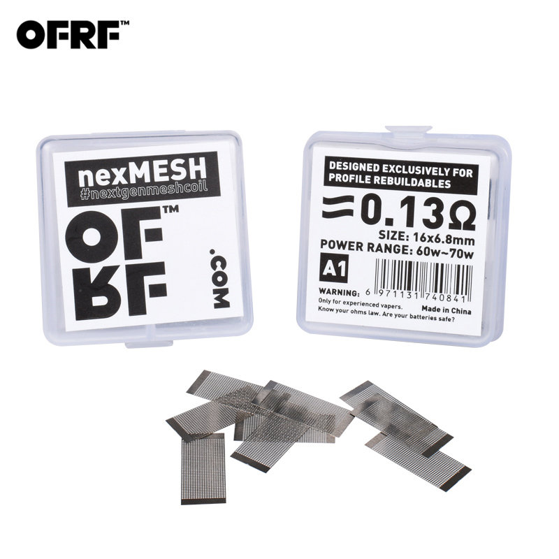 20pcs/2pack Original OFRF nexMESH triple density grid mesh A1 Mesh Pre Built RDA Coil for Wotofo Profile RDA & Profile Unity RTA(China)