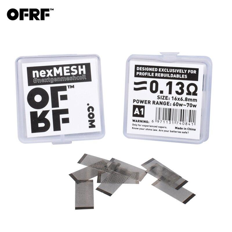 20 pièces/2 pack Original OFRF nexMESH triple densité maille maille A1/SS316L maille bobine pour Wotofo profil RDA & profil unité RTA