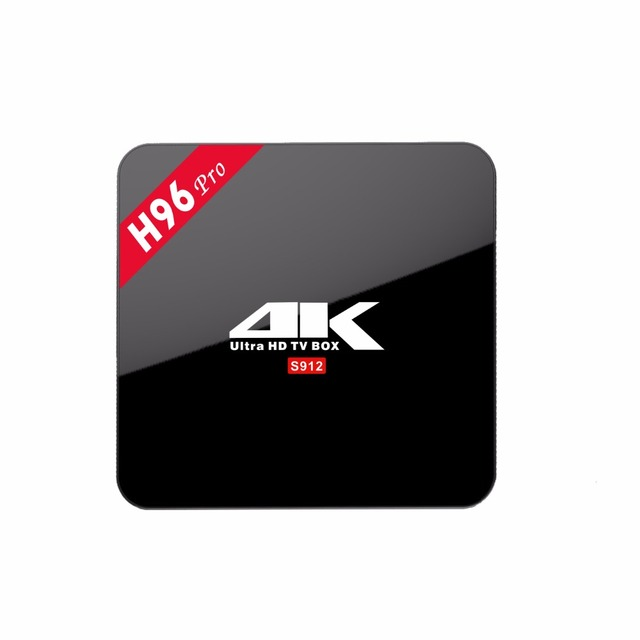 Newest Android TV Box H96pro (3GB/16GB) S912 Octa Core Smart TV Box Android 6.0 Kodi 17.0 2.4G/5GHz Wifi BT 1000M Lan IP TV Box
