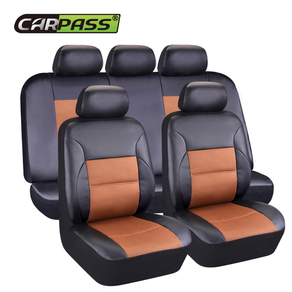 Car pass artificial leather Auto Car Seat Covers Universal Automotive car seat cover for car lada