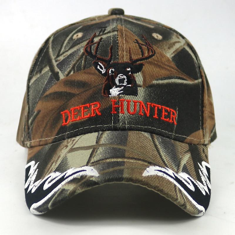 New DEER HUNTER Baseball Cap Elk embroidery Army camouflage hat Snapback hats  Gorras Hats Rock Men Women sports caps wholesale