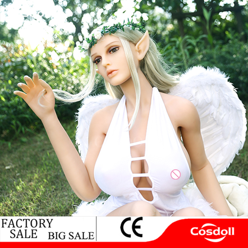 Cosdoll 158cm/168cm <font><b>Full</b></font> <font><b>Body</b></font> Elf <font><b>Lifelike</b></font> Big Breasts <font><b>Silicone</b></font> <font><b>Sex</b></font> <font><b>Dolls</b></font> for Men Women Love Companion <font><b>Sex</b></font> Products Sexy <font><b>Doll</b></font> image