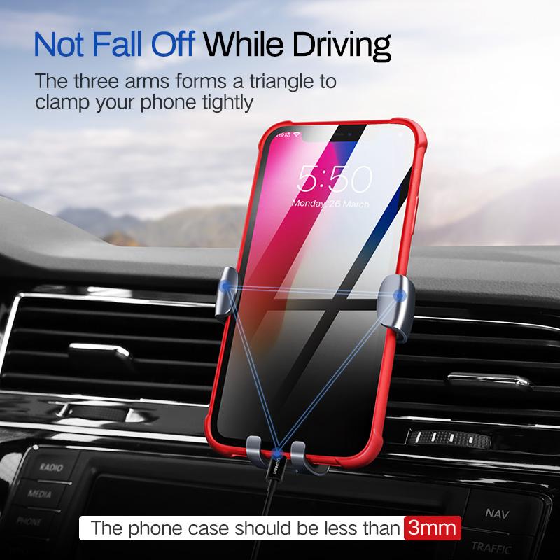 Ugreen Car Phone Holder No Magnetic Gravity Stand Mobile Support Holder in Car Phone Mount Holder Stand for Xiaomi Redmi Note 7 in Phone Holders Stands from Cellphones Telecommunications
