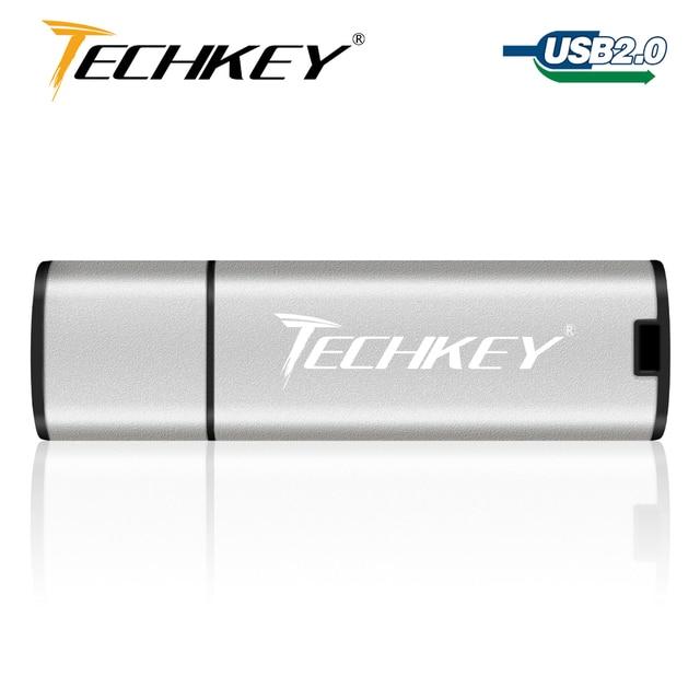 Techkey usb flash drive 32gb pen drive 64gb 16gb 8gb 4gb colorful flash disk cle usb Storage device High-Speed memory stick 1