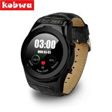 En venta Bluetooth 4.0 Smartwatch para Android IOS Teléfono Completo círculo de Fitness Deporte de Pantalla Táctil SIM card holder ronda inteligente reloj