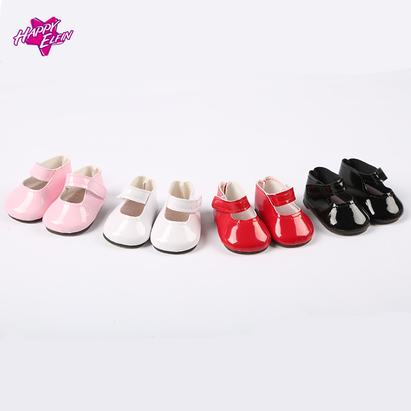 High Quality 7cm doll shoes for dolls 4colors  Mini Toy Doll Shoes 1/6 For Zapf  Baby Born American girl Doll Accessories