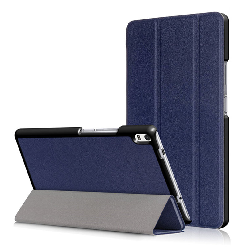 For <font><b>Lenovo</b></font> Tab4 8 Plus TB-8704F TB-8704N Bracket Flip Tri-Folding PU Leather Smart Stand Case Cover Magnetic Auto Wake-Sleep image