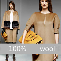 150cm Wide High Quality Big Favorite Thickening 100 Knitted Wool Fabric Winter Coat Fabric NN