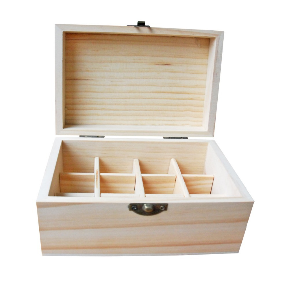 Us 839 Special Offer Essential Oil Wooden Storage Box 12 Holes 5ml 10ml Bottles Handmade Natural Pine Wood Without Paint F007020 In Storage Boxes