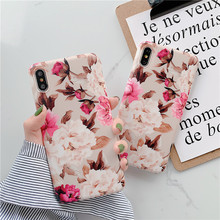 Pink Cherry Rose blossoms phone Cases for iphone X XR XS Max For 6 6s 7 8 7plus Matte Soft TPU case back cover
