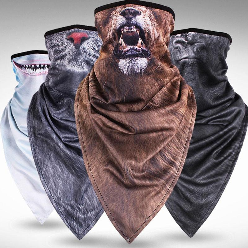 Neck Breathable Half Face Mask Tube Bicycle Outdoor Riding Animal Printed Cool Scarf Winter Snowboard Headband Headscarf Bandana